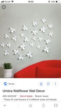 Umbra wall flowers Vancouver