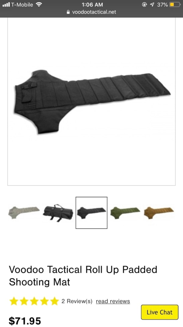 Voodoo tactical roll up shooters mat