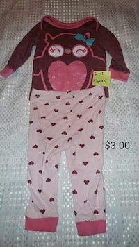 d2b5e2609b2 pink and brown owl printed pajama set