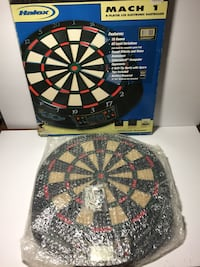 Black, red, and blue dart board