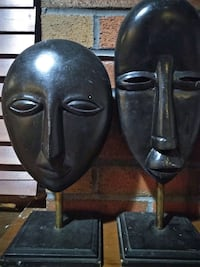 face statues