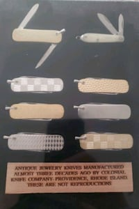 Antique jewelry knives with certificate