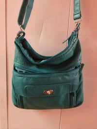 women's green leather messenger bag Pearl City, 96782