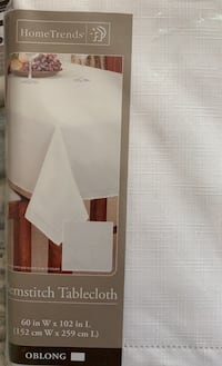 white 60x102 oblong tablecloth Manassas, 20110