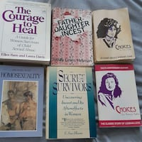 Books about incest for those who are healing.  Group of 6 for $20 FIRM Mississauga, L4Y 2N9