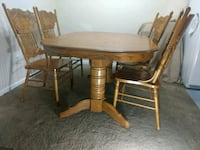 brown wooden dining table set Madison, 35758