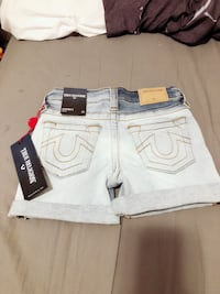 Brand New True Religion Kids denim (Audrey) shorts size 5 Calgary, T2P 0S5
