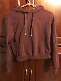 Maroon Hoodie with mesh side