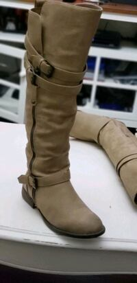 brown faux leather knee-high boot Los Angeles, 91325