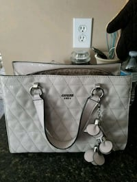 white and gray leather tote bag Clarksville, 37042