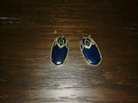 pair of blue gemstone earrings Gatineau, J9H 6Z3