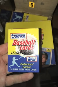 1988 TOPPS REVCO LEAGUE LEADERS GLOSS 33 TOPPS CARDS IN BOXED SET $1  Beltsville, 20705