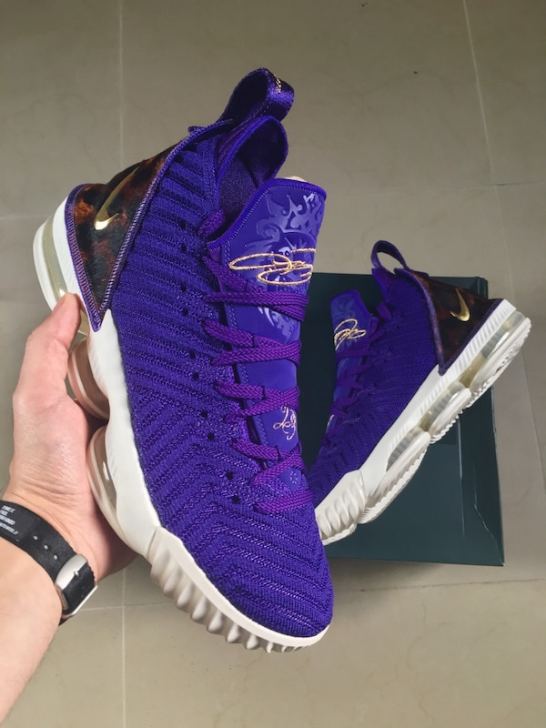 detailed pictures 526af 397f2 Lebron 16 Kings Court Purple DS Size 10
