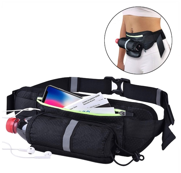 1925f5ebbf50 Running Belt Runner Waist Pack Fanny Pack Ultra Light Bounce Free Waist  Pouch Fitness Outdoor Sports Pockets Adjustable iPhone X 8 7 9 Android  Mobile ...