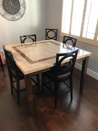 7 piece counter height dining set. Marble top Las Vegas, 89148