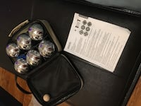Stainless steel boules Bocce balls with linen carrying case
