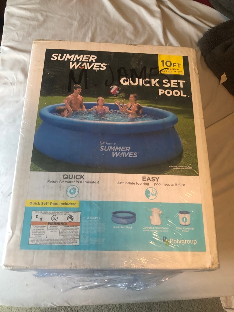 Photo Polygroup® Summer Waves® 10' x 30 Quick Set Ring Pool BRAND NEW