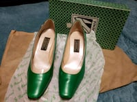 pair of green leather pumps Bowie, 20715
