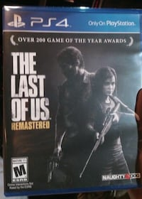 The last of us remastered ps4 game case
