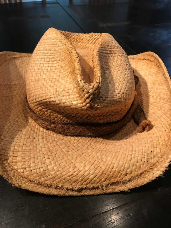 ab2eed6724640 Used Brown wicker fedora hat for sale in San Antonio - letgo
