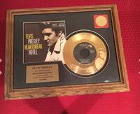 Elvis Presley 24K Gold Plated Framed 45rpm Record Heartbreak Hotel El Paso, 79936