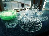 12 pcs Crystal serving dishes Newport News, 23605