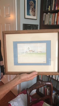 brown wooden framed painting of house Chapel Hill, 27517