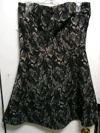 black and gray floral sleeveless dress Mustang, 73064