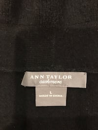Ann Taylor cashmere black sleeveless sweater Gaithersburg, 20879