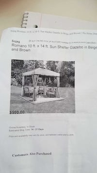 Gazebo Brand new in box! Normally 600+tax Mount Albert, L0G 1M0
