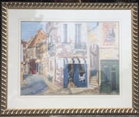 Cafe painting with wood gold coloured wood frame Vaughan, L6A 1E8