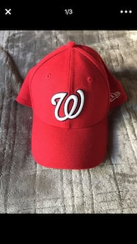 red and white fitted cap San Diego, 92173