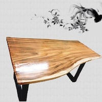 brown wooden drop leaf table