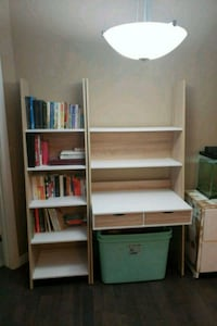DESK WITH HUTCH AND MATCHING BOOKCASE  Edmonton, T5H 3S4