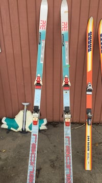 teal and white racing ski boards Moorhead, 56560