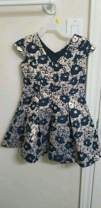 black and white floral sleeveless dress Ottawa