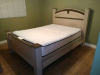 white mattress and brown wooden bed frame El Cajon, 92020