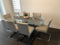 Glass Dining Table & 6 Gray Chairs Vaughan, L4J 9E1