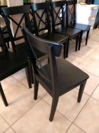 Ikea black ingolf chairs $25