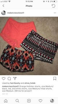 red and black floral shorts Spring Hill, 37174