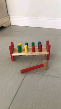 Pounding bench wooden toy with mallet hammer Orlando, 32837