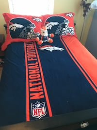 Thick, Officially Licensed Broncos Comforter and Pillow Shams Erie, 80516