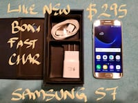 AMAZING  Samsung Galaxy S7 SILVER+box+FastCharger Pointe-Claire, H9R 3A3