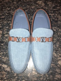 Authentic Louis Vuitton Denim Moccasin's!!! Seven Corners
