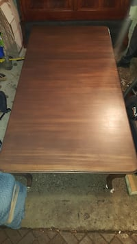 Large wooden dining table with leaf.  TORONTO