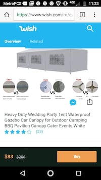 10×20 wedding tent with walls San Francisco, 94109