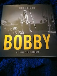 AUTOGRAPHED BOBBY ORR  HARDCOVER BOOK-MY STORY IN PICTURES