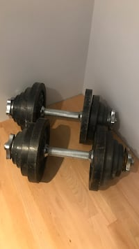Adjustable metal dumbbells, $35 or best offer  New York, 11104