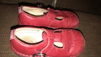 pair of red perforated leather flats Cohutta, 30710