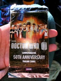 Rare Bbc Topps Dr. Who 50th Anniversary Trading Card Pack Unopened Not